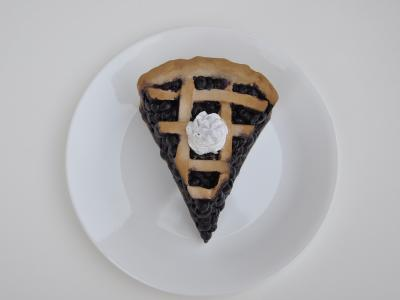 Pie slice made out of ceramics